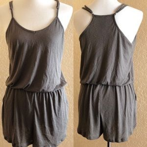 Swell ribbed green romper size Medium